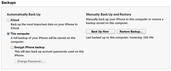 Backup Now Your iPhone