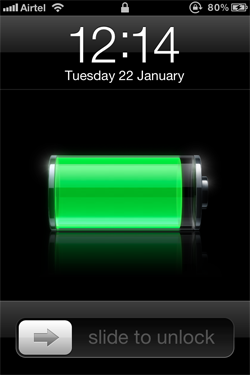 Charging Icon on iPhone