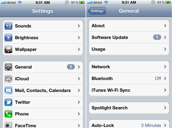 General Software Update for iPhone