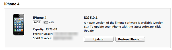 iTunes Manual Update