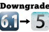 Downgrade iOS 6.1 to iOS 5.x